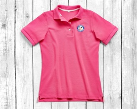 women's polo shirt with short sleeves