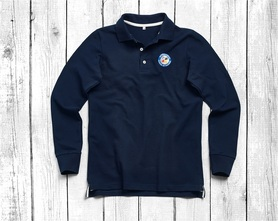 men's polo shirt with long sleeves